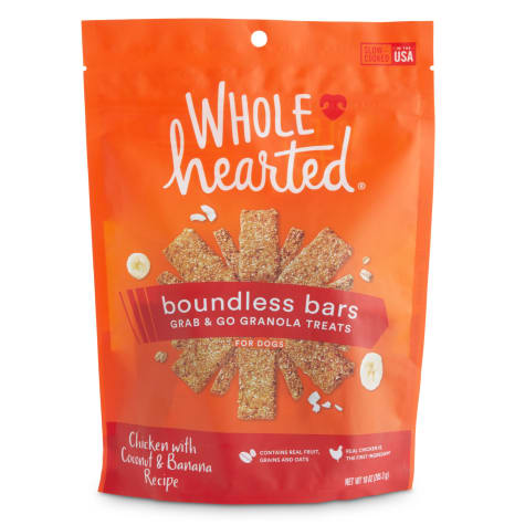 WholeHearted Boundless Bars Chicken with Coconut & Banana Grab & Go Dog Treats