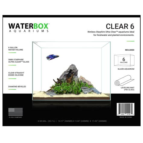 Waterbox Clear 6 Gallon Aquarium