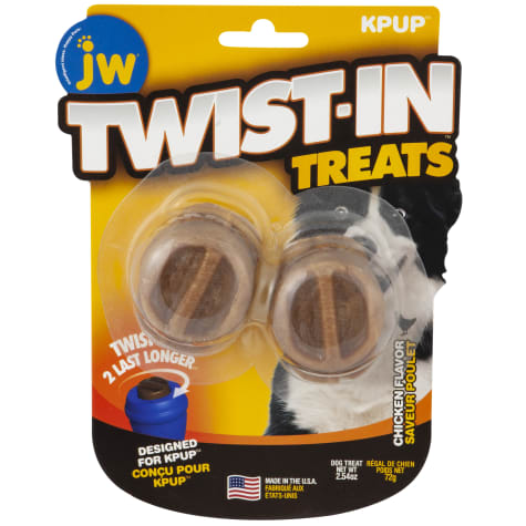 JW Pet Twist in Treat Chicken Flavor Chew Dog Toy