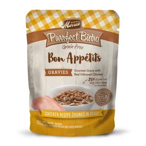 Merrick Purrfect Bistro Bon Appetits Gravies Chicken Grain Free Wet Cat Food