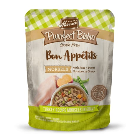 Merrick Purrfect Bistro Bon Appetits Turkey Morsels Grain Free Wet Cat Food