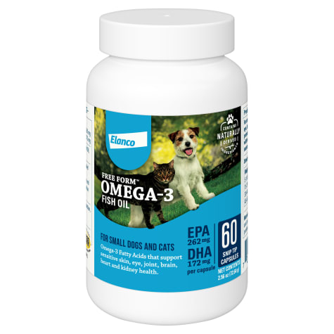 Bayer Free Form Snip Tips Omega-3 Supplement for Small Dogs and Cats