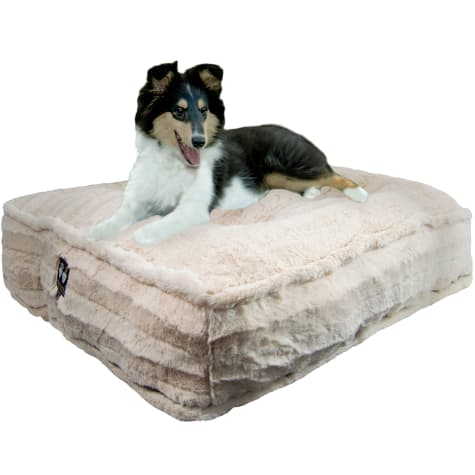 Bessie and Barnie Natural Beauty Ultra Plush Faux Fur Luxury Durable Sicilian Rectangle Pet Bed