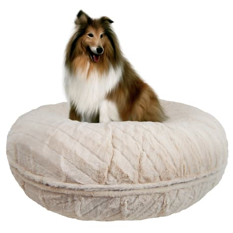 Bessie and Barnie Signature Natural Beauty Luxury Extra Plush Faux Fur Bagel Pet Bed
