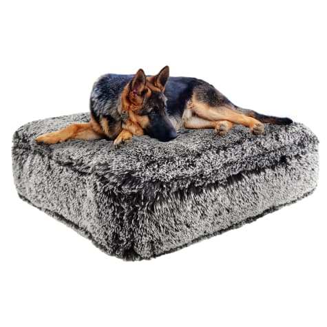 Bessie and Barnie Midnight Frost Ultra Plush Faux Fur Luxury Shag Durable Sicilian Rectangle Pet Bed