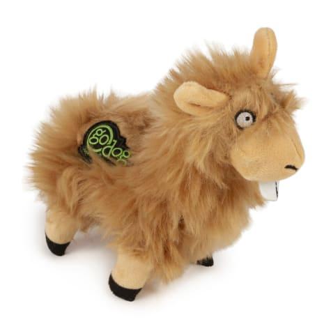 goDog Tan Buck Tooth Llama Dog Toy