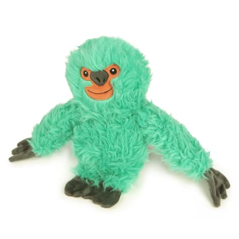 goDog Teal Fuzzy Sloth Dog Toy