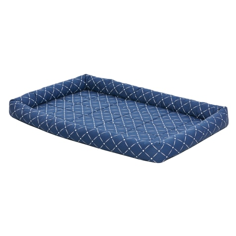 Midwest Quiet Time Couture Ashton Blue Pet Bed