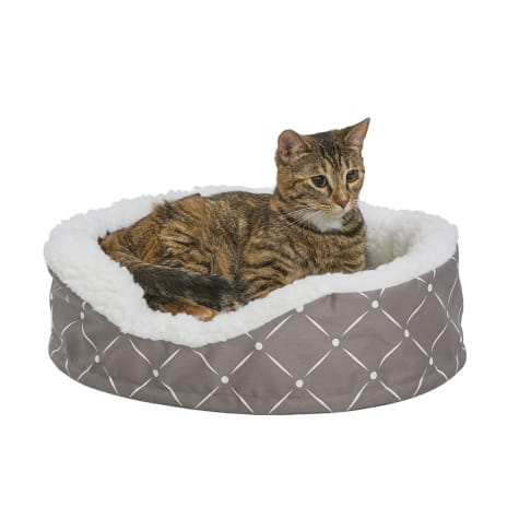 Midwest Quiet Time Couture Orthopedic Cradle Gray Dog Bed