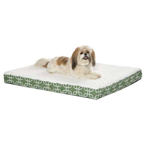 Midwest Quiet Time Defender Double Orthopedic Dog Bed with Teflon Green