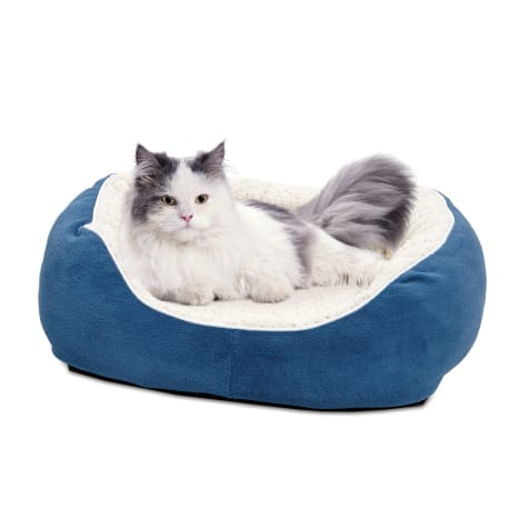 Midwest Quiet Time Boutique Cuddle Blue Dog Bed