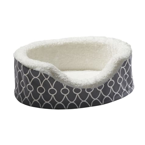 Midwest Quiet Time Defender Orthopedic Nesting Gray Dog Bed