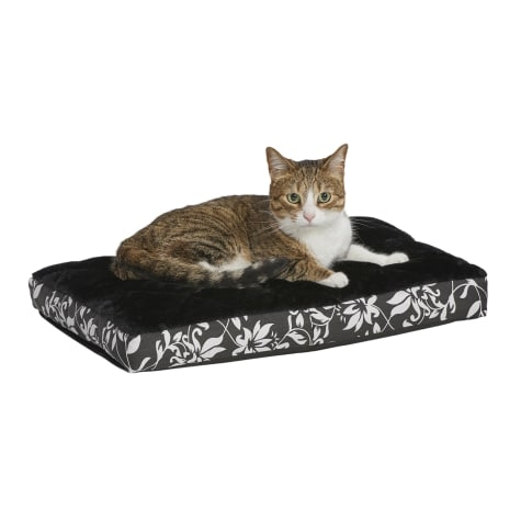 Midwest Quiet Time Couture Carlisle Mattress Black Floral Dog Bed