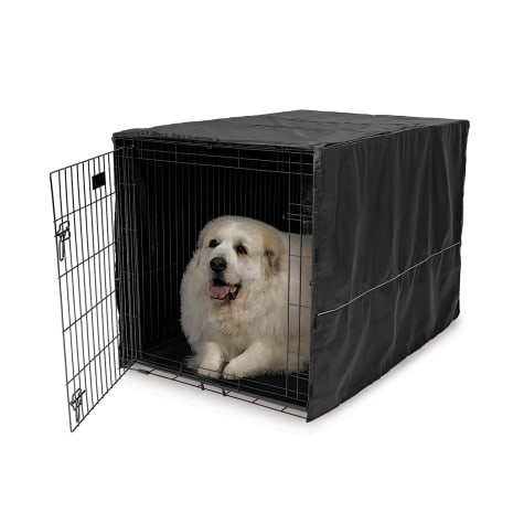 Midwest Quiet Time Black Crate Cover for Dogs