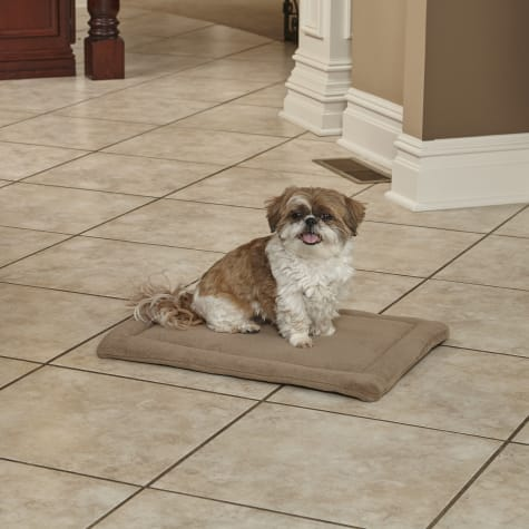 Midwest Quiet Time Deluxe Micro Terry Taupe Dog Bed