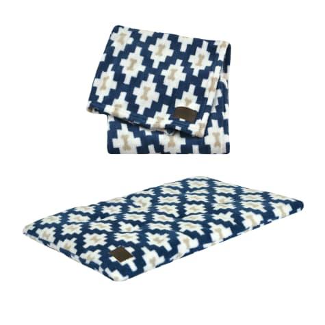 Territory Bone Geo Bed & Blanket Bundle for Dogs