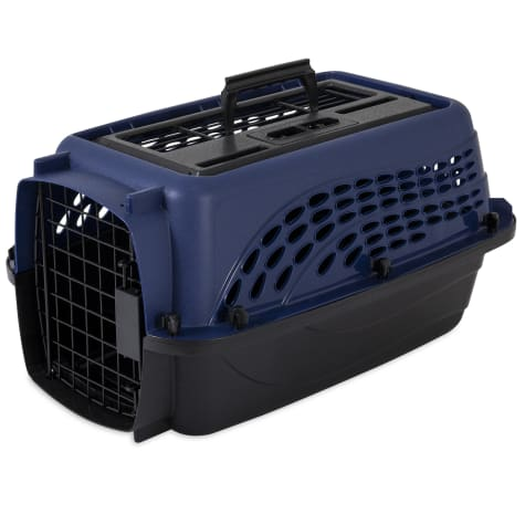 Petmate Two Door Top Load Navy Kennel