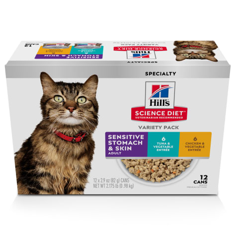 Hill's Science Diet Adult Sensitive Wet Cat Food Variety Pack