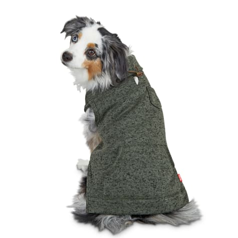 Reddy Olive Heathered Knit Dog Pullover