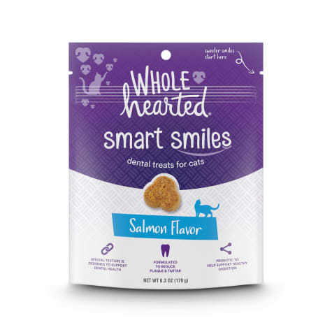 WholeHearted Smart Smiles Salmon Flavor Cat Dental Treats