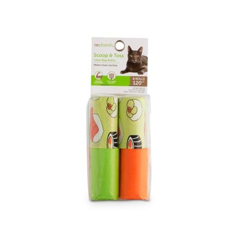 So Phresh Scoop & Toss Sushi Print Cat Litter Bag Refills