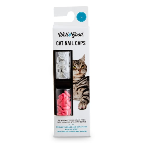 Well & Good Pink & Clear Cat Nail Caps