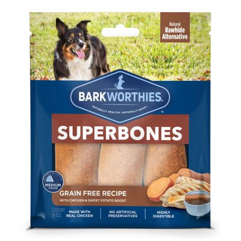 Barkworthies Grain Free Chicken & Sweet Potato Superbone Dog Treats