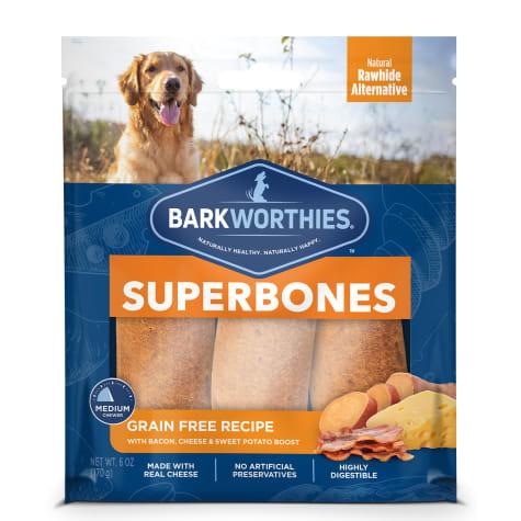 Barkworthies Grain Free Bacon, Cheese & Sweet Potato Superbone Dog Treats