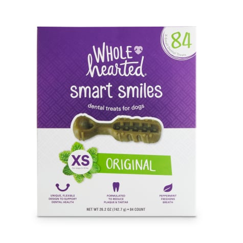 Wholehearted Smart Smiles Original Flavor X-Small Dog Dental Treats