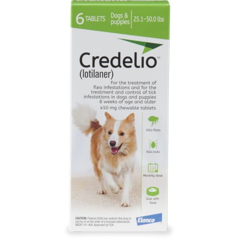 Credelio Chewable Tablets for Dogs 25.1-50 lbs. - Green