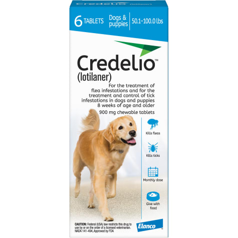 Credelio Chewable Tablets for Dogs 50.1-100 lbs. - Blue