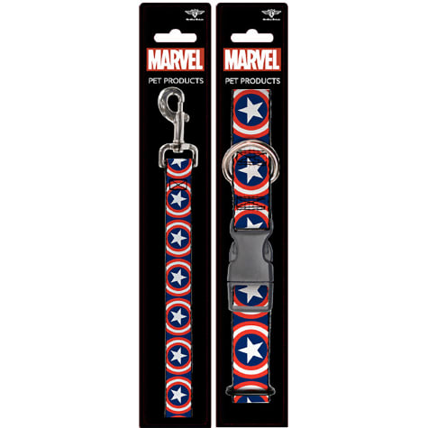 Buckle-Down Captain America Collar and Leash Set for Dogs