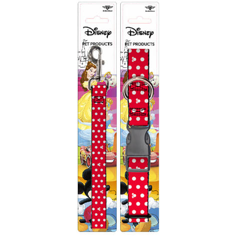 Buckle-Down Minnie Mouse Collar and Leash Set for Dogs