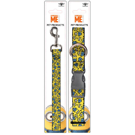 Buckle-Down Minions Collar and Leash Set for Dogs