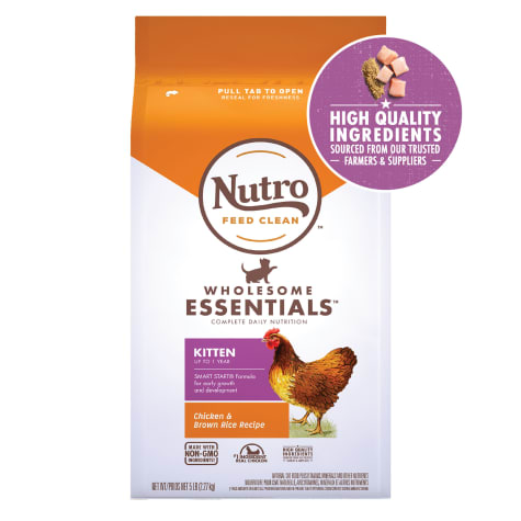 Nutro Wholesome Essentials Natural Chicken & Brown Rice Recipe Dry Kitten Food