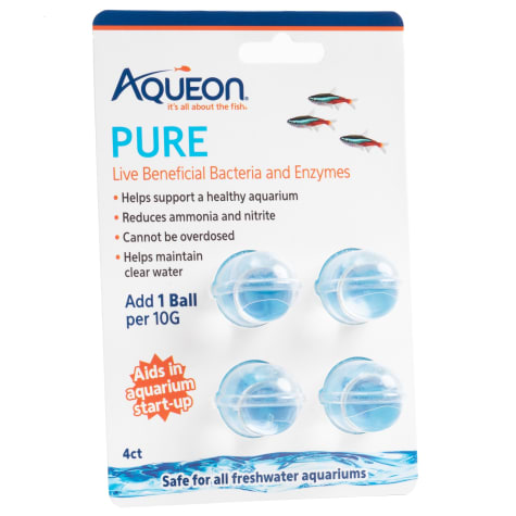 Aqueon PURE Live Beneficial Bacteria and Enzymes 4 ct.