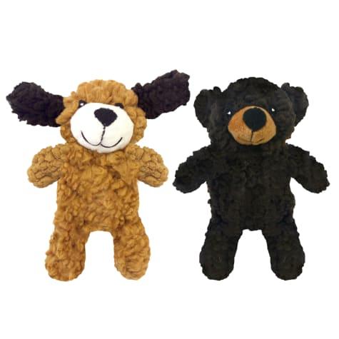 Multipet Rescue Plush Flattie Assorted Dog Toy