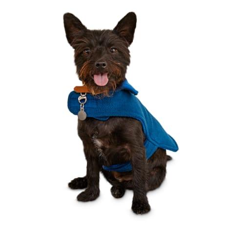 Good2Go Blue and Indigo Classic Cozy Dog Coat