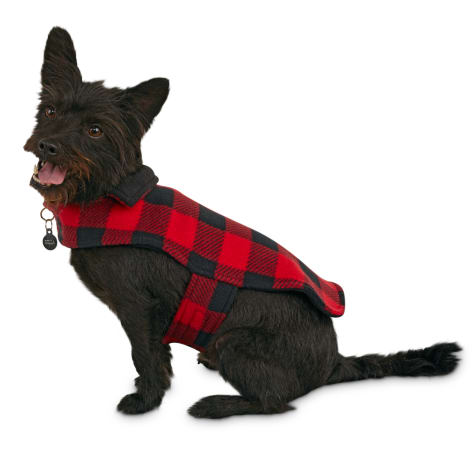 Good2Go Buffalo Check Classic Cozy Dog Coat