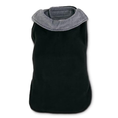 Good2Go Black and Grey Classic Cozy Dog Coat