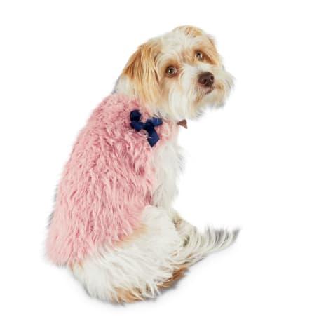 Bond & Co. Modern Luxe Pink Faux-Fur Dog Vest
