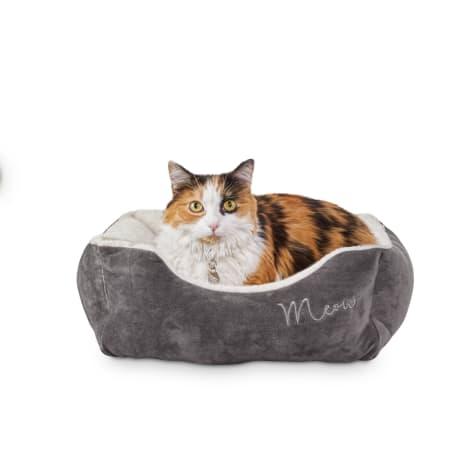 Harmony Grey Rectangular Cat Bed