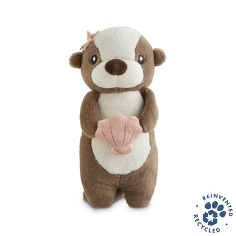 Bond & Co. Recycled & Reinvented Otter Plush Stick Dog Toy