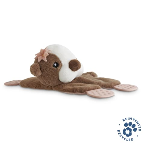 Bond & Co. Recycled & Reinvented Otter Plush Dog Toy with Paddle Feet