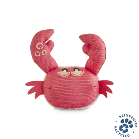 Bond & Co. Recycled & Reinvented Crab Plush Cat Toy