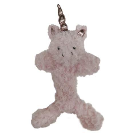 Bark A Boo Enchanted Forest Braided Fabric Twister Unicorn Dog Toy