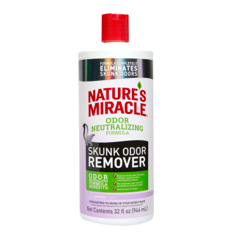 Nature's Miracle Skunk Odor Remover with Odor Neutralizing Formula Lavender Scent for Pets