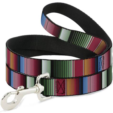 Buckle-Down Pet Leash Zarape5 Vertical Multi Color Stripe