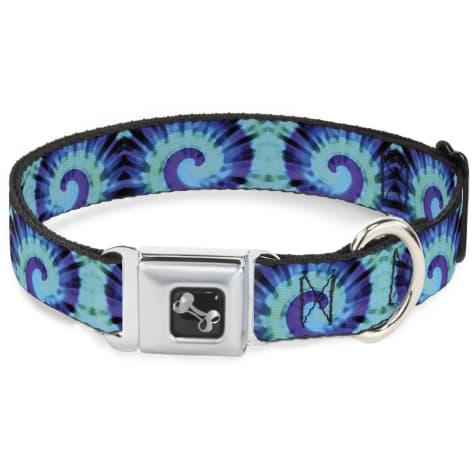 Buckle-Down Seatbelt Buckle Dog Collar Tie Dye Swirl