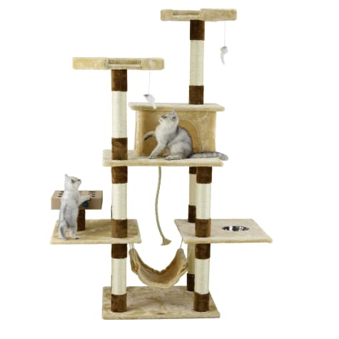 Go Pet Club Beige and Brown 70